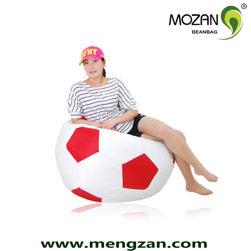 indoor playing soccer shape ball bean bag chair