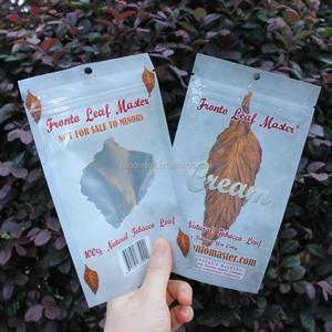 customized printing 3-sided seal foil mylar flat ziplock bag smoking blunt  tobacco wrap