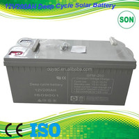 Deep Cycle battery 12v 200 ah factory quality 1ah~250ah deep cycle battery ,most popular 12v 200ah deep cycle battery