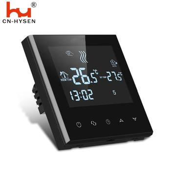 HY03WE-4 7days Touch Screen Programmable Floor Heating Thermostat best digital thermometers