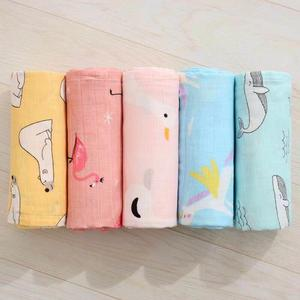 Plant stock wholesale baby blankets100% muslin cotton or bamboo cotton 70/30 double layer