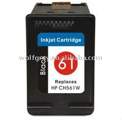 Ink cartridge for HP CH561W(61) Black