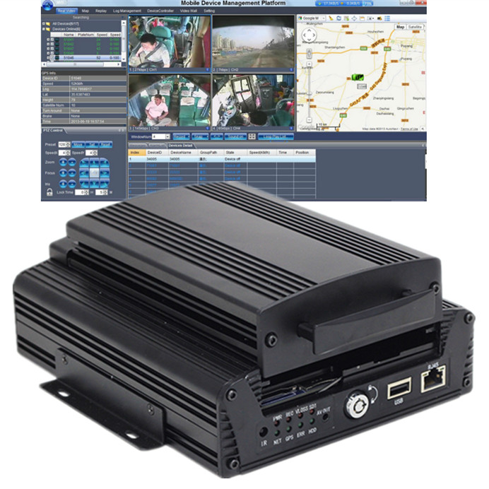 Download DVR H264 CMS GPS Location 4CH High Definition Vehicle CCTV Solution for accident disputes