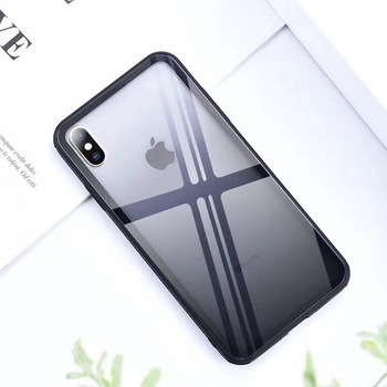 crystal double color changing color glass tempered case for iphone x,for iphone tpu bumper glass case