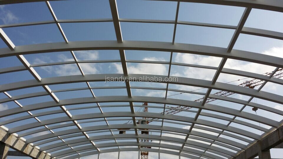 Building Glass Skylight System With Steel Structure Design