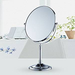 Desktop mirror copper and antique-style mirror double sided three times magnifying vanity mirror gold 8-inch mirror Fiery chrome