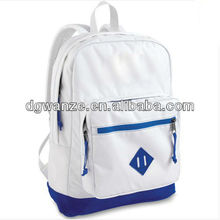 fashion white backpack bag with three pockets