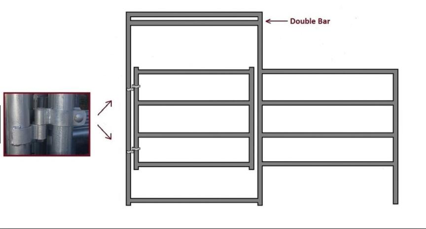 16'W 4-Rail of galvanized Horse Corral Panel