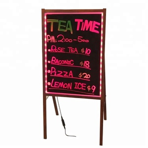Lighted writable led message board display billboard