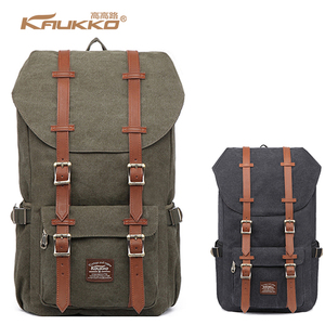 KAUKKO Best Selling Retro Canvas Backpack America Camping Travel Hiking Wholesale Daypack Backpack from China