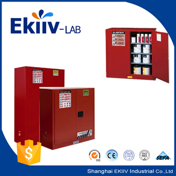 Metal Industrial Safe Glass Door Laboratory Cabinet For Chemistry
