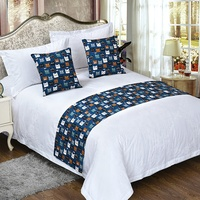Hotel Bedding Set Decorative Bed Runner And Cushion Set