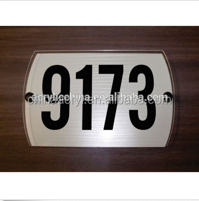 Plate Clear acrylic house number sign