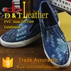 knitted design pvc synthetic leather for man shoes