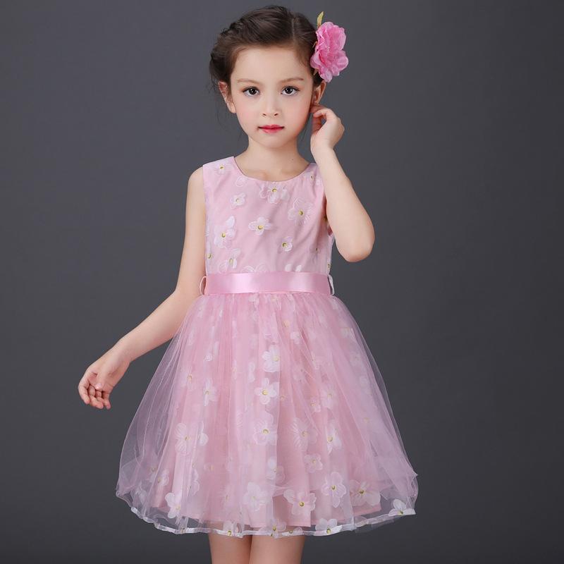 Envío de la última moda flor fiesta princesa vestidos para niñas ...