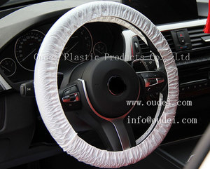 Disposable PE interior accesories car steering wheel cover