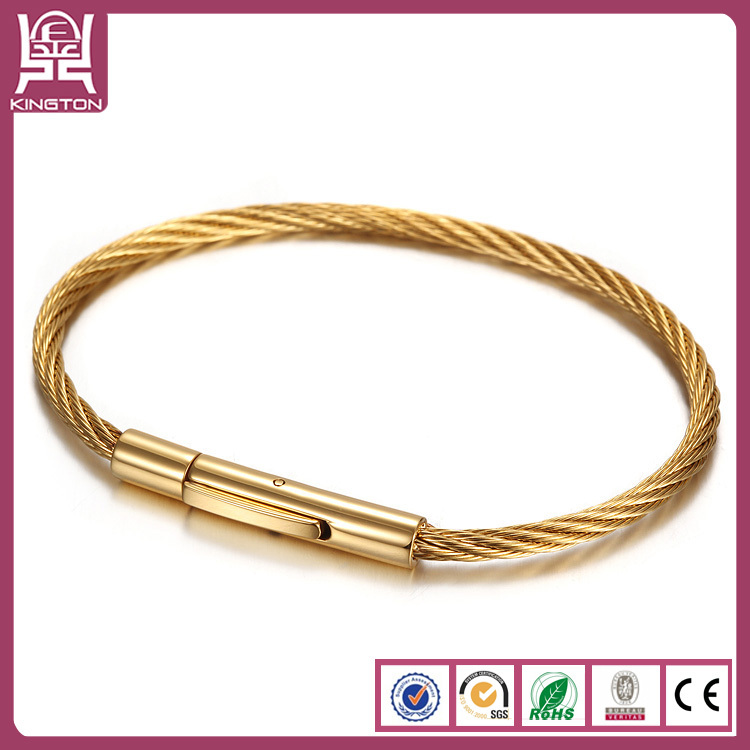 Ebay Mens Solid Gold Stainless Steel Bracelet Bracelets Men S Product On Alibaba