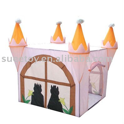 Castle Shaped House Tent W/King and Quene Drawing
