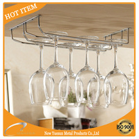 chrome wire wine glass rack