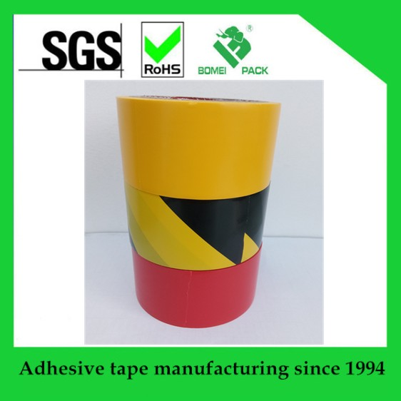 Black & Yellow Hazard Warning PVC Floor Line Marking Tape 50mm x 33m