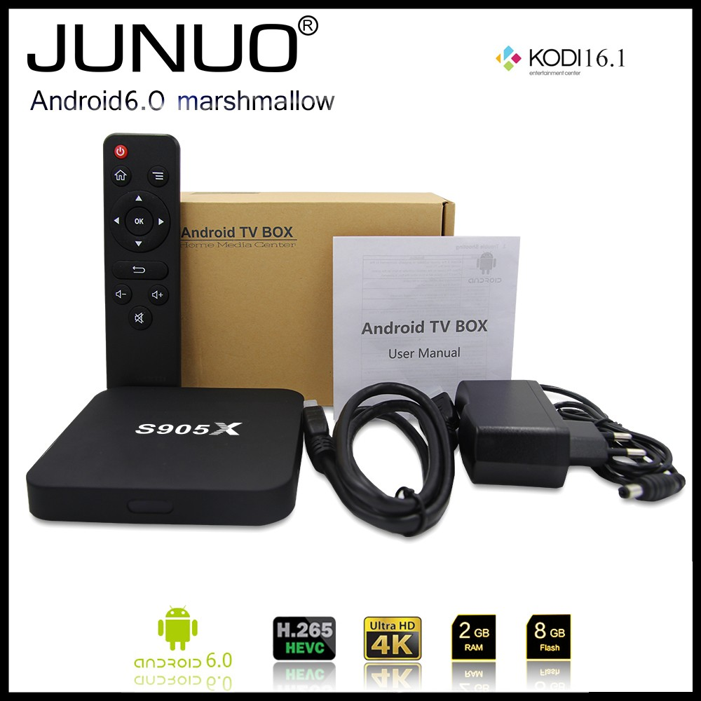 Android tv box 4K HD h.265 quad core 2GB install google play store