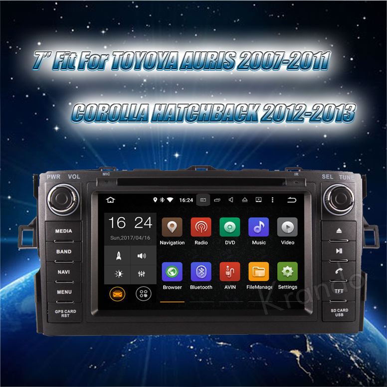 Krando Android 7.1 car multimedia dvd gps navigation for toyota auris 2007-2011 radio player WIFI 4G LTE 2G RAM KD-TA713