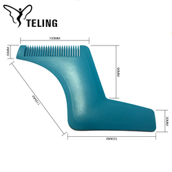 Newest beard styling and shaping template comb tool
