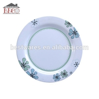White round reusable fruit simple plate melamine