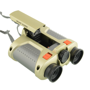 2015 powerful plastic toy mini binoculars for kid gift, 4x30 security portable telescope with LED light for outdoor used