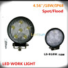 Super bright 4x4 accessories 12v 24v 18w off road led work lights for truck/atv/utv/suv/tractor/jeep