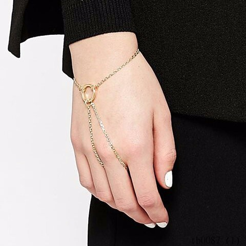 Delicate Circle Hand Chain Bracelet, Fashion Gold Slave Bracelet Jewelry