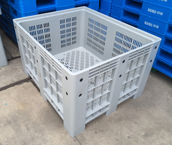 Reclaimed Pallet Plastic Container Shipping Crate Mesh Storage Bin For  Warehouse Racking