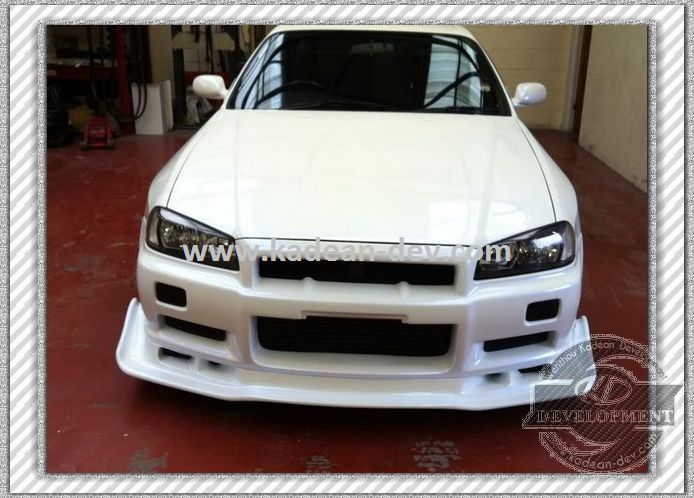 frp fiber glass auto select front lip with undertray valance for skyline r34 gtr in front skirt. Black Bedroom Furniture Sets. Home Design Ideas