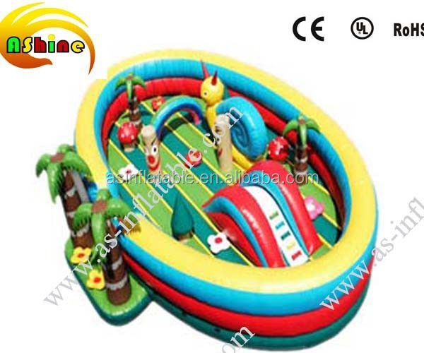 Mini inflatable fun city,inflatable outdoor castle for summer