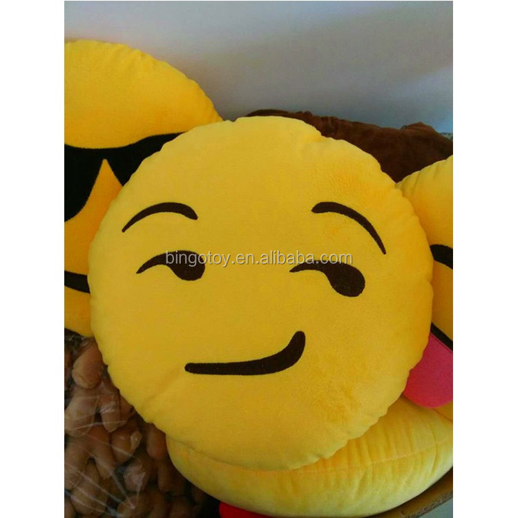 Latest Hot selling factory direct varied plush emoji pillows,lovely emoji pillows,expression hot sale emoji stuffed toy
