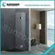 SUNZOOM frameless stainless steel with polish or brush finish clean glass shower room #SFD001
