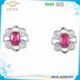 Factory direct customizable created single red stone ruby stud earring