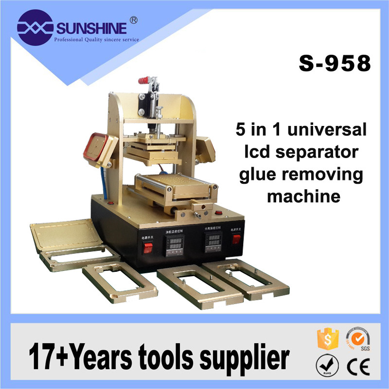 SUNSHINE Build In Vacuum Pump 5 In 1 Lcd Separator Loca Glue Remove Machine For Iphone 6s