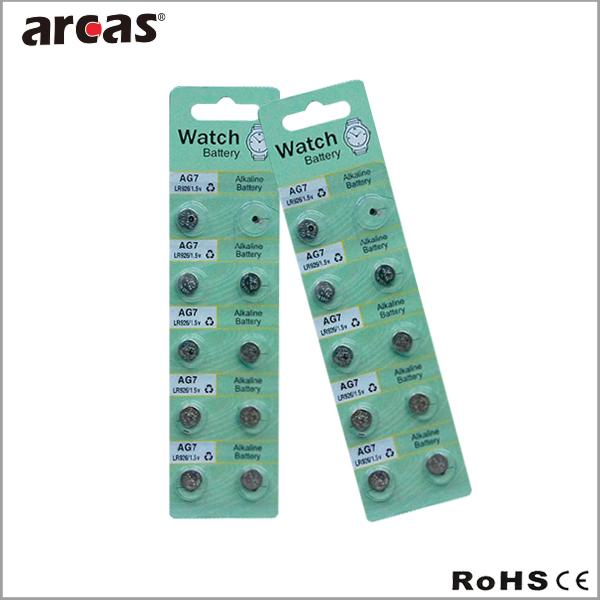 Hot Sale Ag0/l521/lr63/379 Alkaline Button Cell Battery