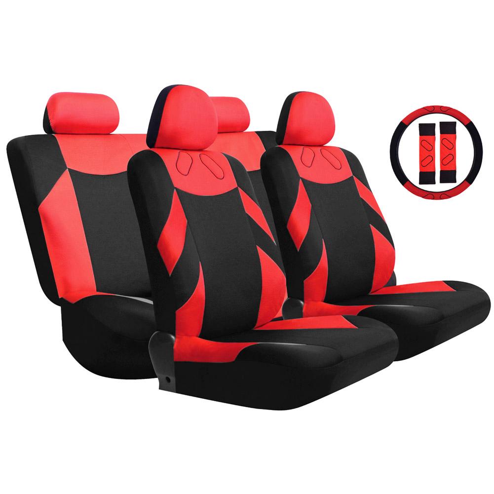 Tremendous Buy Tirol Universal Pu Car Seat Cover Set Black Imitation Machost Co Dining Chair Design Ideas Machostcouk