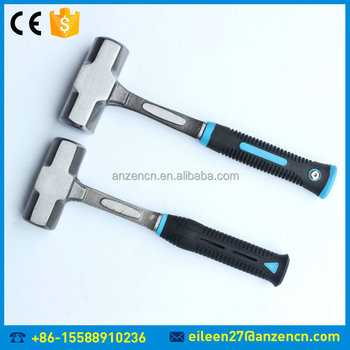China Manufacturer 2LB To 20LB Double Face Sledge Hammer With Fiber/TPR/Wooden/Steel Handle