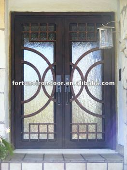 Wholesale Iron Doors Double Wrought Iron Entry Door With