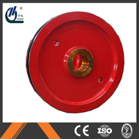 The big red wire steel pulley wheels