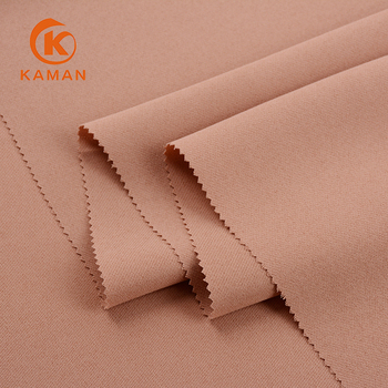 Wholesale soft leisure textiles customized woven 2*2 twill sport wear polyester fabric for garment