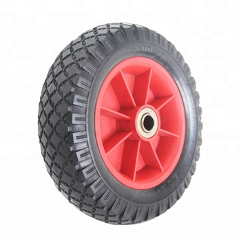 "8"" PU Foam Wheel For Flower Rack Garden Trolley"
