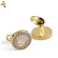 Newest design sales promotion item fashion swank crown cufflink