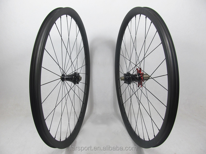 Only 1280g !! Toray carbon mtb wheels 29er carbon bicycle wheels with Extralite hub super performance