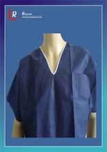 Non-woven Disposable Isolation Gown men patient gown hospital