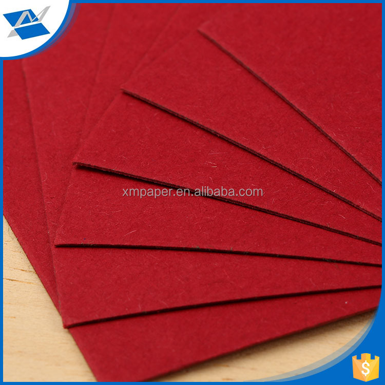 XM- R9 Guang dong hot sales art special paper / shoe box 110 gsm special red paper / kraft paper board forjewelry box