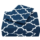 Bedding 4PC Bed Sheet Set 1 Flat Sheet, 1 Fitted Sheet, and 2 Pillow Cases (Queen, Navy)